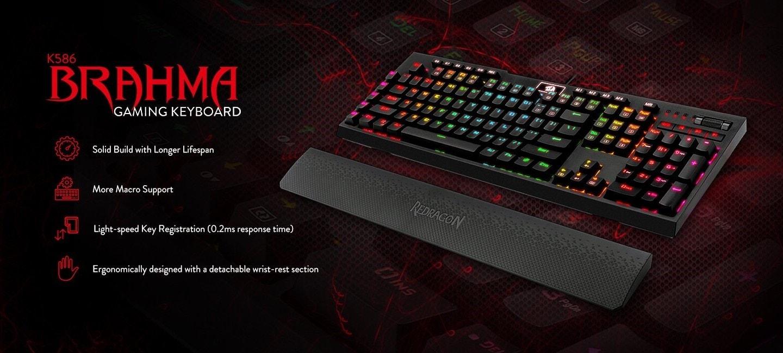 Redragon K586-PRO Brahma RGB Mechanical Gaming Keyboard Review